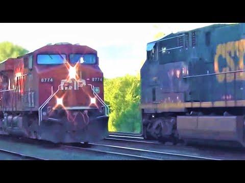 Canadian Pacific Train Meets CSX Train