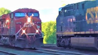 Canadian Pacific Train Meets CSX Train