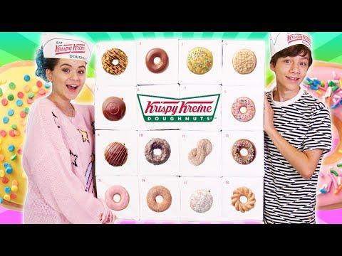 Krispy Kreme Calendar.Krispy Kreme Donuts Advent Calendar 2018 Youtube