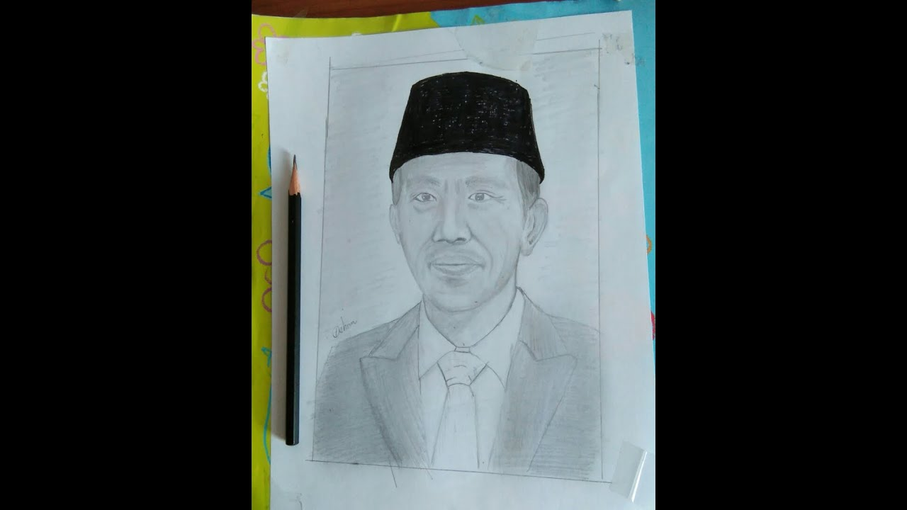 Cara Menggambar President Jokowi