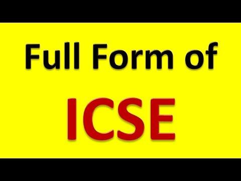 Full Form of ICSE - YouTube