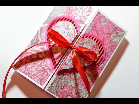 How to Make - Valentines Day Card Heart Embossing - Step by Step | Kartka Na Walentynki Serce