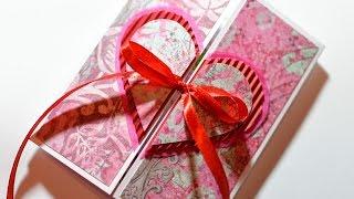 Repeat youtube video How to Make - Valentine's Day Card Heart Embossing - Step by Step | Kartka Na Walentynki Serce