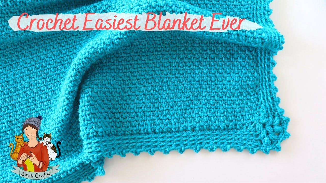 Crochet Easiest Blanket Ever / Moss Stitch