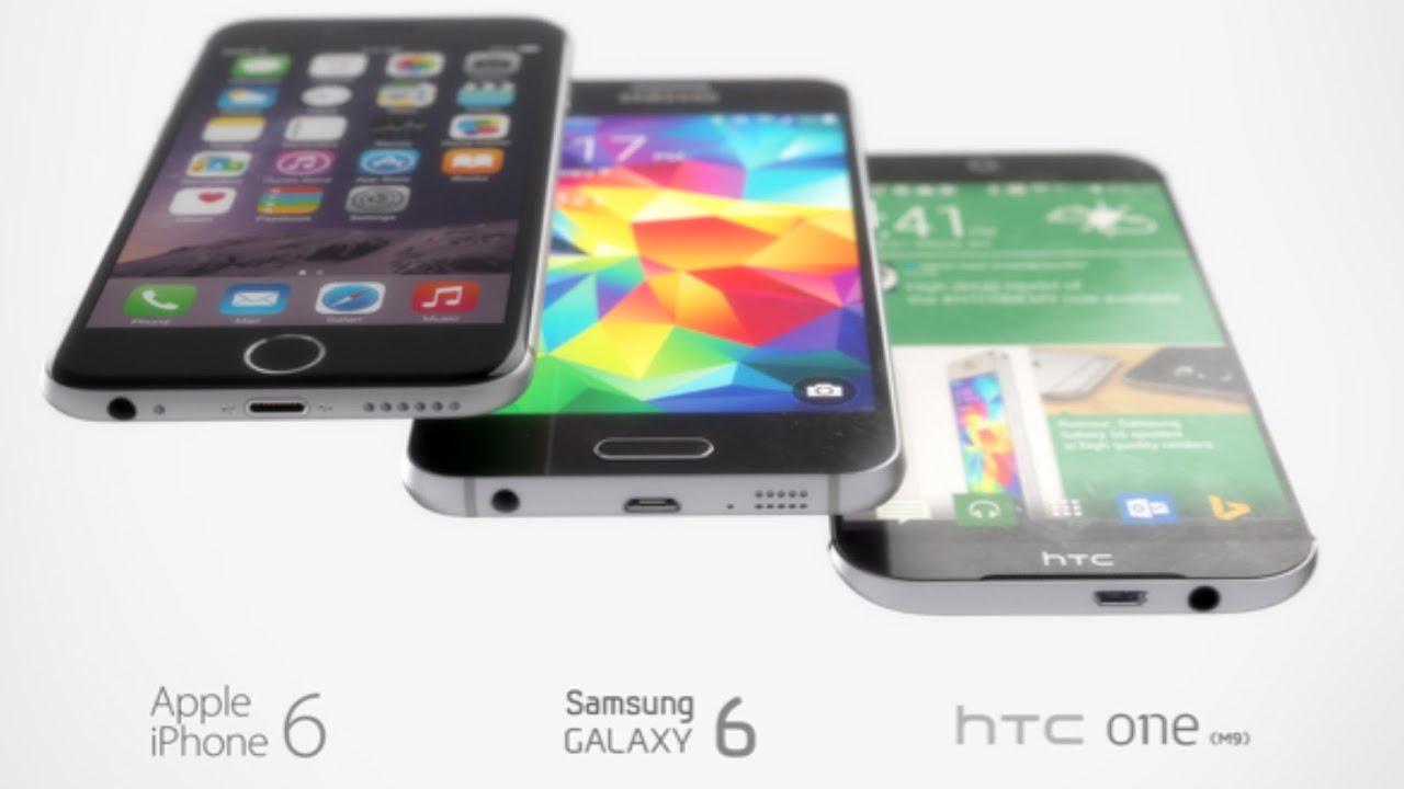 Samsung galaxy note 5 vs htc one m9 plus a comparison - New Htc One M9 Vs Galaxy S6 Iphone 6 Best Renders Comparison Hd Youtube