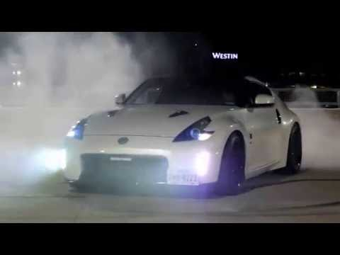 Donuts and Night Shoots with Marco's 370z and my Lancer GT