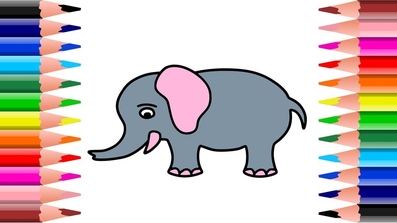 39+ Kumpulan Cara Gambar Gajah Yang Mudah Terkeren | Repptu
