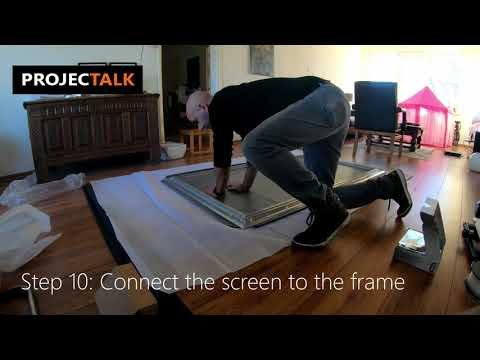 How To Assemble A Fixed Frame Projection Screen (Timelapse)