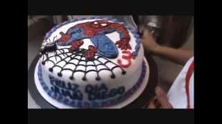 Spider Man cake. pastel de Spider man