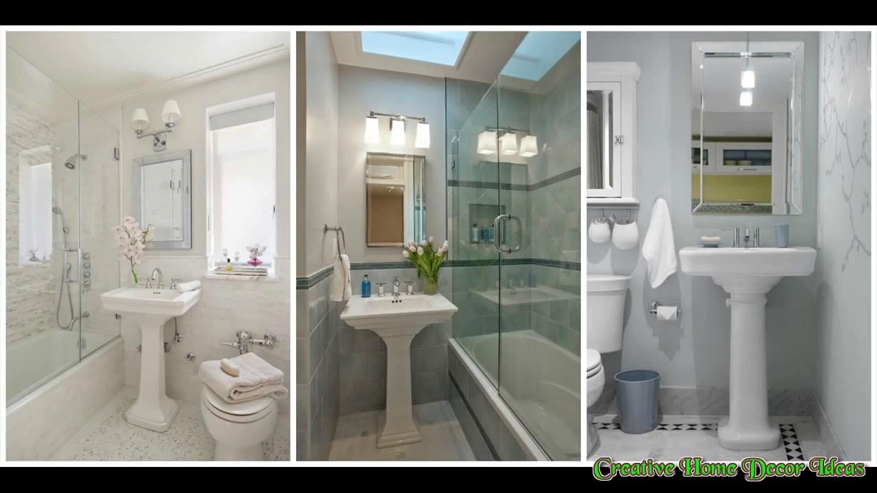 Pedestal Sink Small Bathroom Youtube
