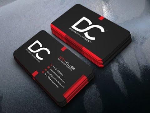 Business Card Design | FRONT PART | 2019 | Full Bangla Tutorial For Bigginer thumbnail