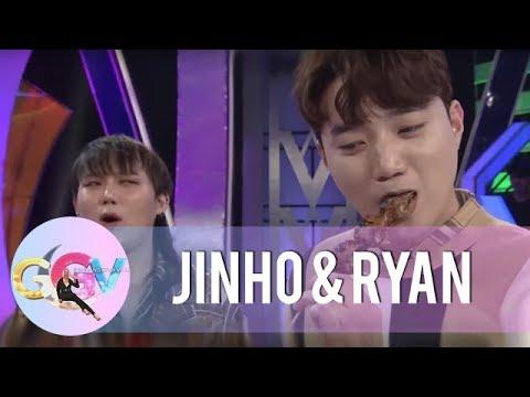 JinHo and Ryan accept Vice Ganda's street food challenge   GGV
