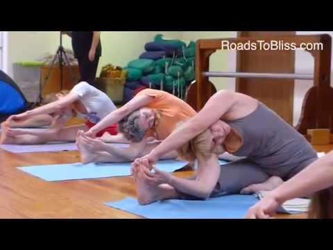 Parivrtta Janu Sirsasana with Lois Steinberg, Ph.D. Certified Iyengar Yoga Teacher Advanced 2)