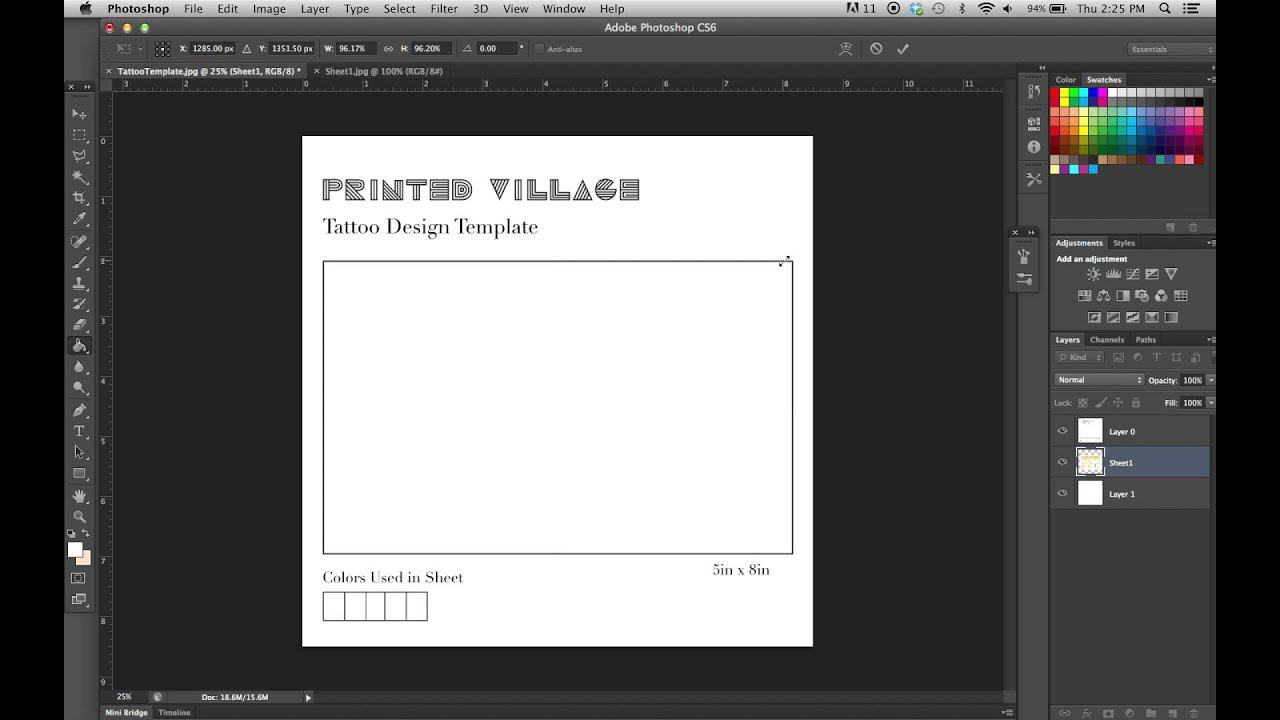 6f602f047 Photoshop Tutorial - Learn How To Use The Tattoo Design Template ...
