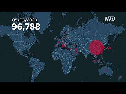 На интерактивной карте показали, как коронавирус распространялся по миру