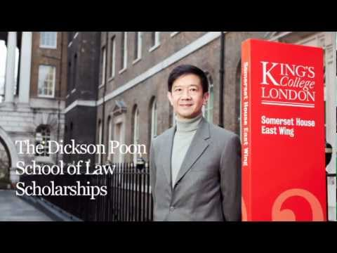 King's College London: King's launches The Dickson Poon Scholarship Programme
