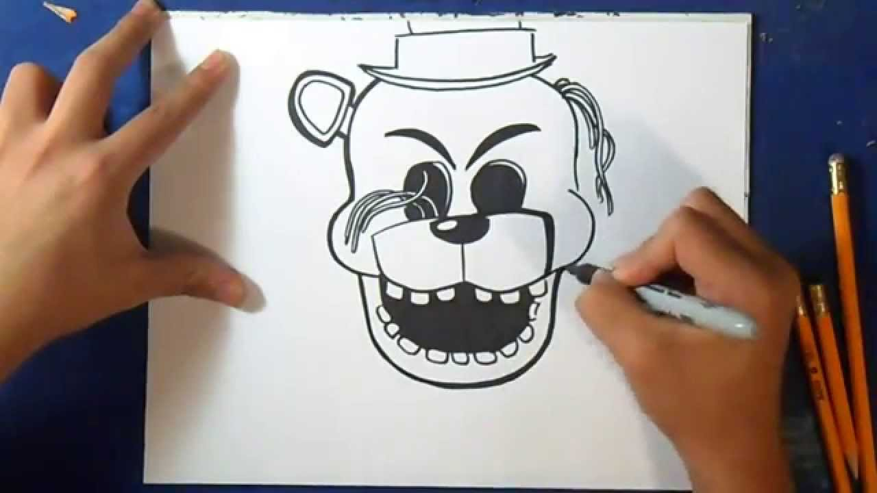 como desenhar o golden freddy five nights at freddy s youtube