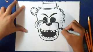 Como desenhar o Golden Freddy - Five Nights at Freddy´s