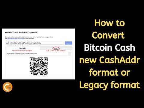 How To Convert Bitcoin Cash New CashAddr Format Or Legacy Format | Bitcoin Cash Address Converter