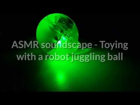 ASMR   Toying with a robot juggling ball