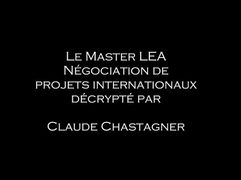 Présentation Master LEA Négociation Projets Internationaux