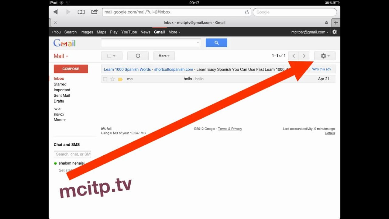 How to disable gmail keyboard shortcuts - YouTube