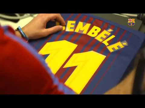 The Making  Of  Dembele's Jersey   FC Barcelona