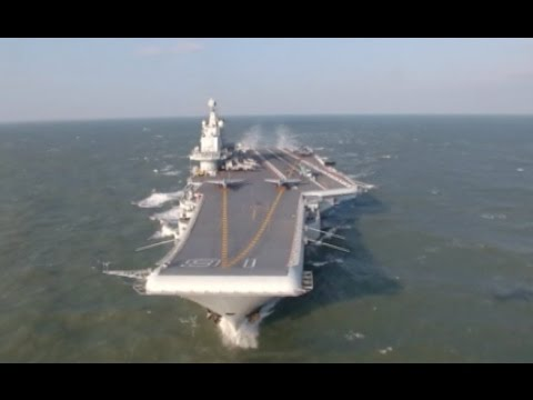 Chinese Aircraft Carrier Liaoning Takes Part in Aircraft Drill over Yellow Sea