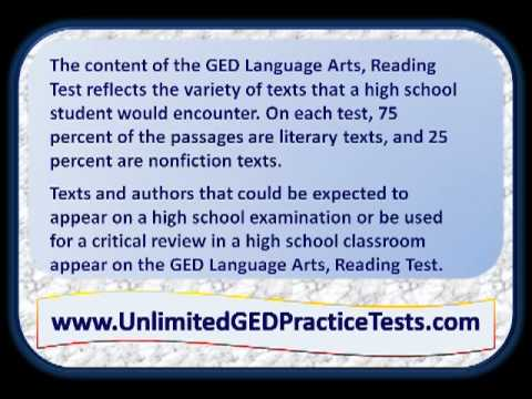What Is On The GED Language Arts, Reading Test?