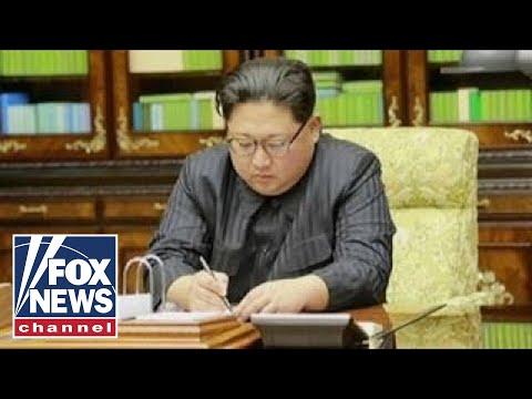 President Trump reads letter from Kim Jong Un