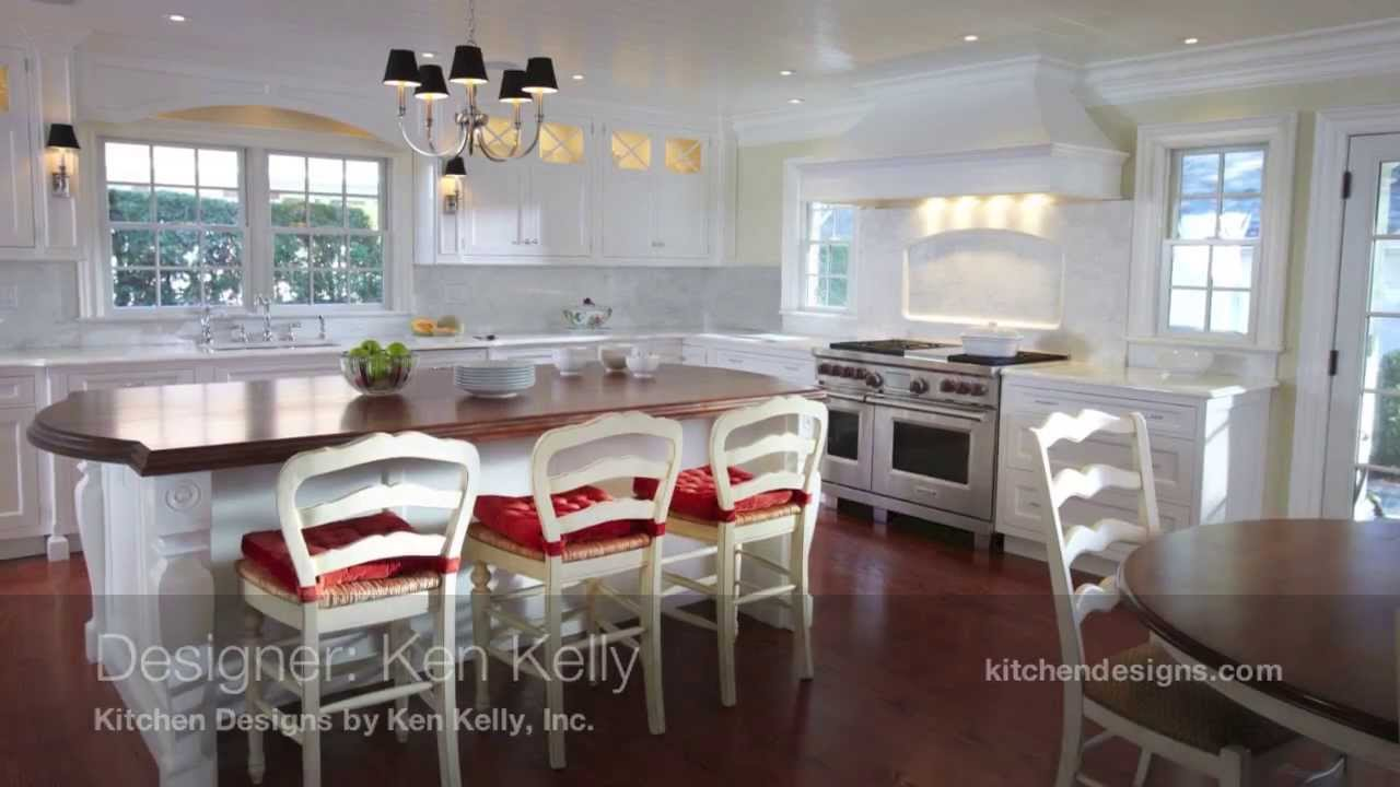 White Kitchen Design In Garden City Long Island By Kitchen Designs By Ken  Kelly   YouTube