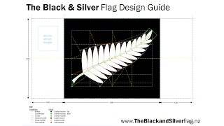 HOW TO DRAW A SILVER FERN: The Black & Silver flag design guide