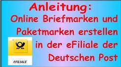 Anleitung: Briefmarken & Paketmarken online erstellen | Deutsche Post Shop eFiliale Internetmarke