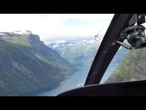 GeirangerFjord Helicopter Tour  Amazing View 2017-07-26
