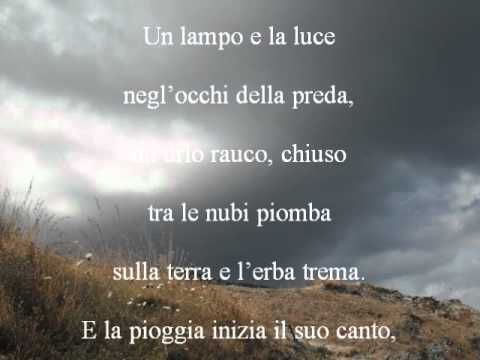 La Voce Della Pioggia Poesia Matteo Oliviero Youtube