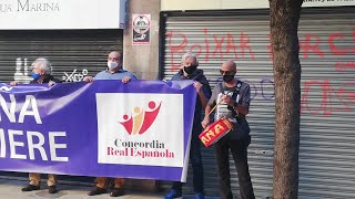 Concentración en Palma en apoyo a los reyes eméritos