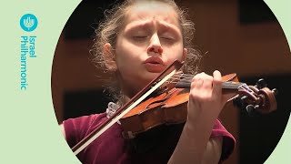 Youngest violinist - Masha Marshon (11yrs old) with the Israel Philharmonic