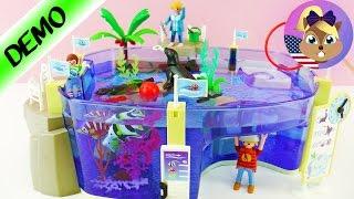 PLAYMOBIL Huge SEA AQUARIUM Family Fun - Pool Fun with Sea Lions & Fish!