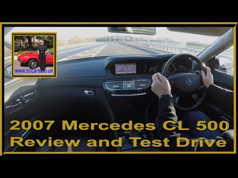 Virtual Video Test Drive in our Mercedes CL 500