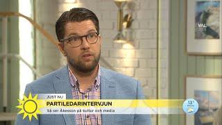 """Jimmie Åkesson (SD): """"Vi är beredda att ta ett större ansvar"""" - Nyhetsmorgon (TV4)"""