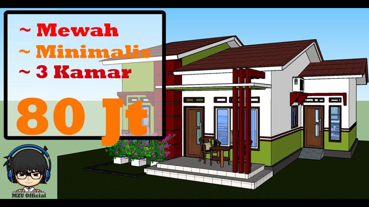 Desain Rumah Minimalis 8x10 Meter 3 Kamar Tidur Mzu Official Youtube