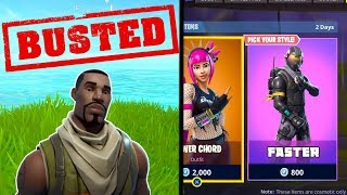 *BUSTED* Buying Skins In FORTNITE Makes You Run FASTER! (Fortnite Mythbusters)