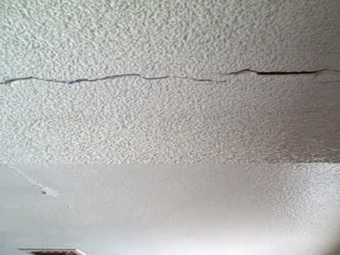 Ceiling cracks- how much can you live with? - YouTube