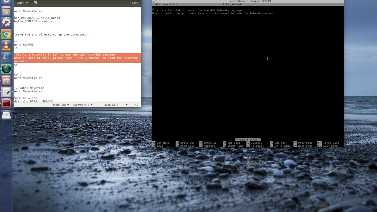 OpenCV C++ on Linux Tutorial 5 -Working with Autotools part 1