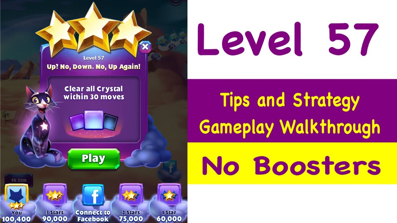 Bejeweled Stars Level 57 Tips and Strategy Gameplay Walkthrough No Boosters  by Grumpy Cat Gaming