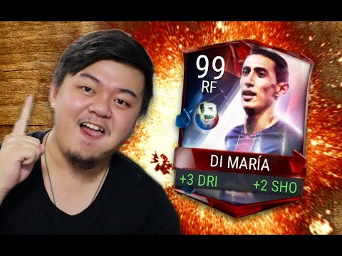 NEW 99 DOMINATION DI MARIA COMPLETED!! REVIEW OF THE BEAST!! FIFA MOBILE IOS / ANDROID