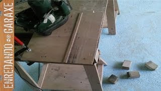 Mesa De Trabajo Sencilla, Cortando Las Piezas. Work Table. Cut The Frame Pieces