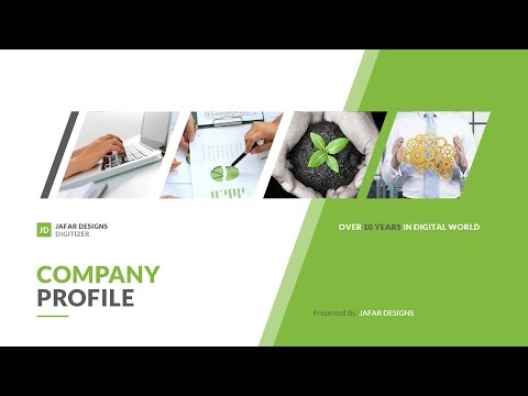 Everything you require for a professional impressive company profile, crafted extreme care & details.