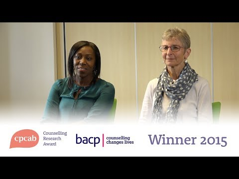CPCAB Counselling Research Award 2015: winner