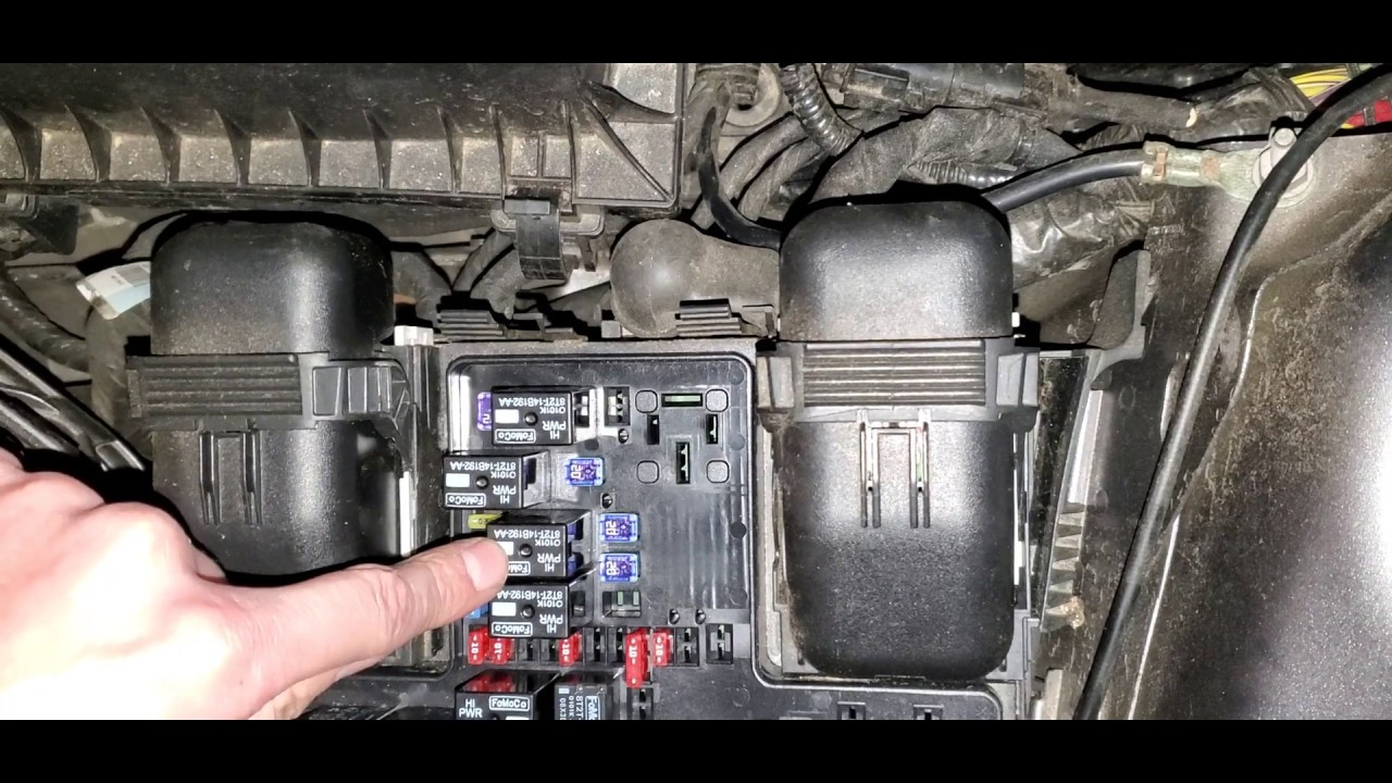 2014 Ford Fusion Starter Fuse Relay Fuel Pump Fuse Relay Location Youtube